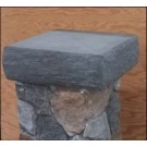 DecKorators Flat Cast Stone Post Cap Gray