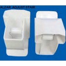 MVP Adjustable Brackets for Alzar Rail White