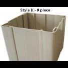 MVP Post Wrap Style H - White