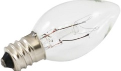 Clear Incandescent Bulbs Available in C7 and C9