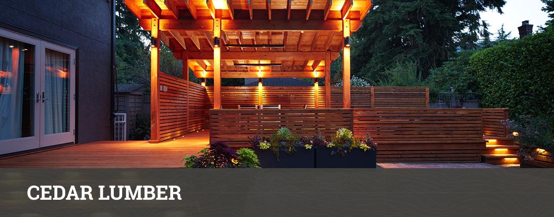 Cedar Lumber (S4S, S12SE & Rough Sawn) - Hackmann Lumber
