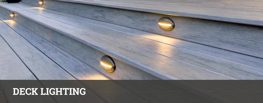 Deck lighting outdoor stair railing lights hackmann lumber aloadofball Images
