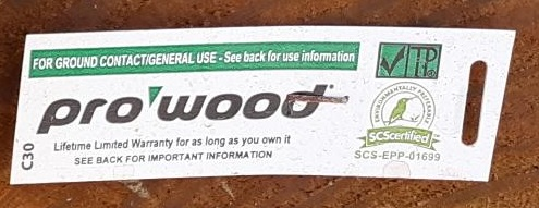 ProWood Treated Lumber End Tag