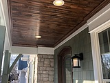Car Siding Installed As Porch Ceiling