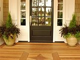 Cedar Porch Floor with Embellishment