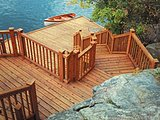 Cedar Deck with Stairs and Dock