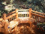 Cedar Deck with Bench
