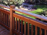 Cedar Deck with Rail