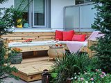 Cedar Deck with Sectional