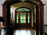 Andersen Rectangular Straightline Rectangular Glass Panel 181 Mahogany Sidelights Transom Custom Art