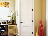 Jeld-Wen Monroe Smooth Flat Panel Door also known as 2 Panel Flat Two Panel Door