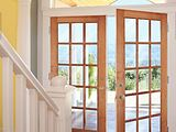 Woodgrain Maple 15 lite French Doors 627