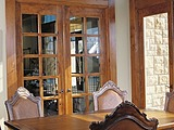 Woodgrain 12 Lite 626 French Door with Transom 620