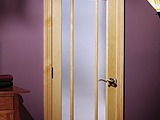 Woodgrain Ponderosa Pine 690 9 Lite Prairie Design Narrow Reed Glass also known as Reeded Glass