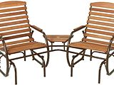 Country Garden TeteATete Glider Chairs with Side Table SKU 817138
