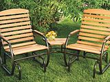 Country Garden Glider Chairs TeteATete with Side Table SKU 817138
