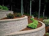 VersaLok Curved Terraced Garden Walls Landscaping Blocks