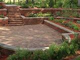VersaLok Landscaping Blocks Patio, Terraced Garden Walls, and Stairs