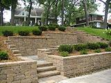Versa-Lok Terraced Retaining Walls and Stairs
