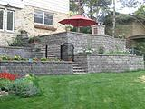 Versa-Lok Terraced Garden Walls and Steps Stones