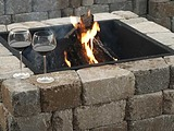 SKU MADERASQT Madera Square Timberwood Fire Pit Kit -Also available in Bethany SKU MADERSQB