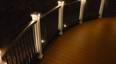 Deck lighting outdoor stair railing lights hackmann lumber deck lighting at night aloadofball